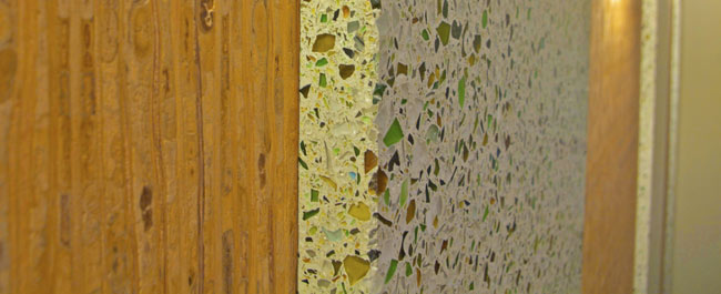 concrete recycled glass