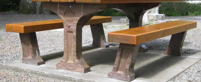 Stupendous Picnic Table For Bc Parks Sites Szolyd Concrete Inc Home Interior And Landscaping Fragforummapetitesourisinfo