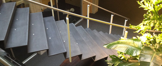 precast stair case ductal concrete street furniture. Black Bedroom Furniture Sets. Home Design Ideas