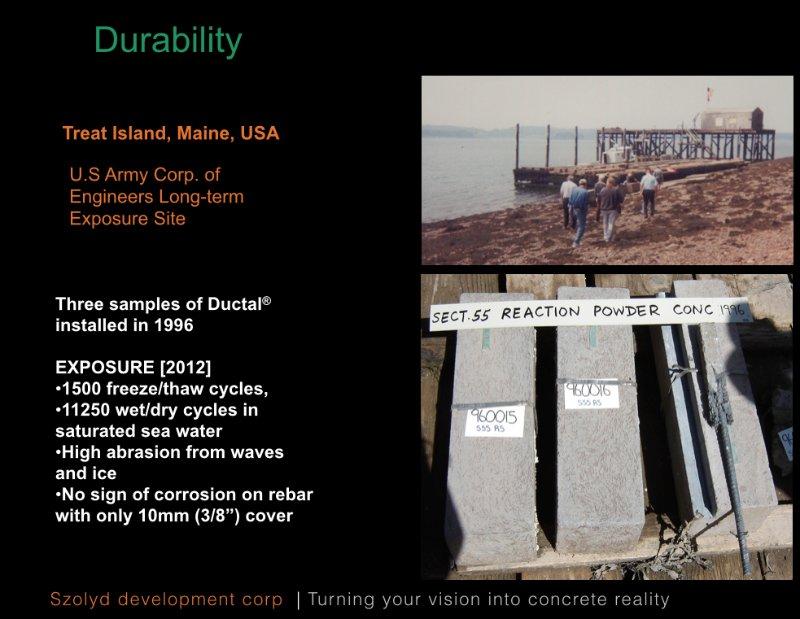 UHPC durability