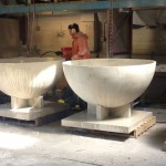 large concrete bowls