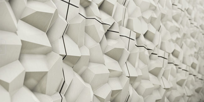 facetted 3d tiles concrete