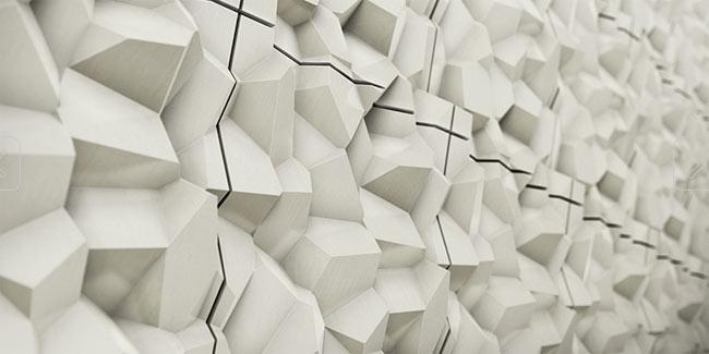 facetted 3d tiles concrete