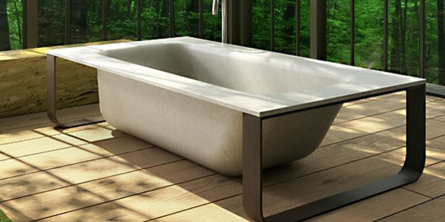 warm concrete tub uhpc