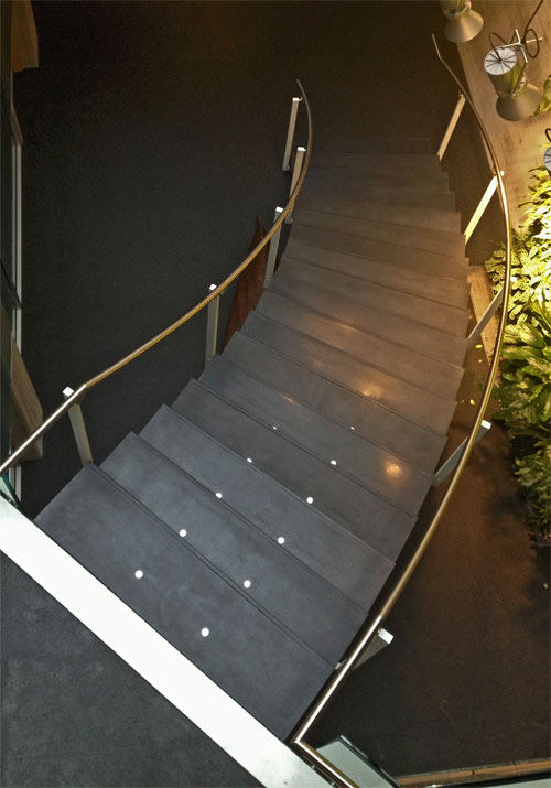 Charcoal Ductal Stair Treads For Perkins Will Architecture