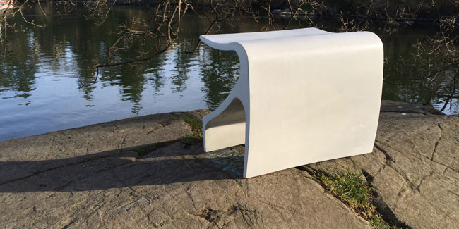 white sofi bench ductal