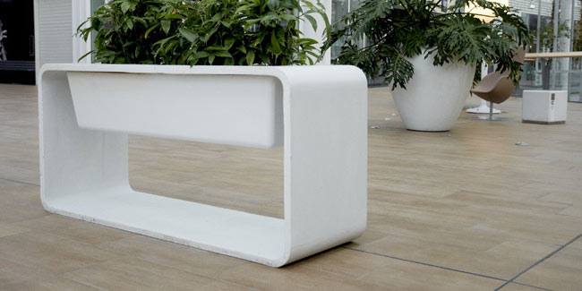 white ductal planter