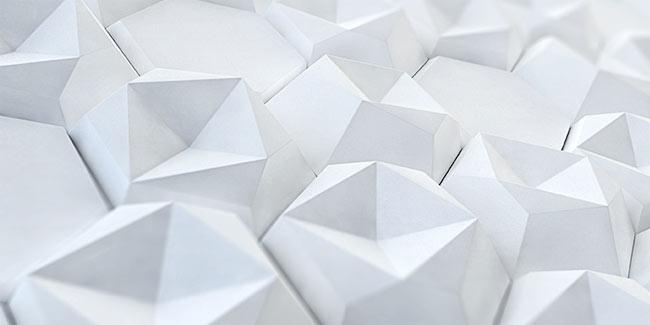 white angular 3d concrete tile