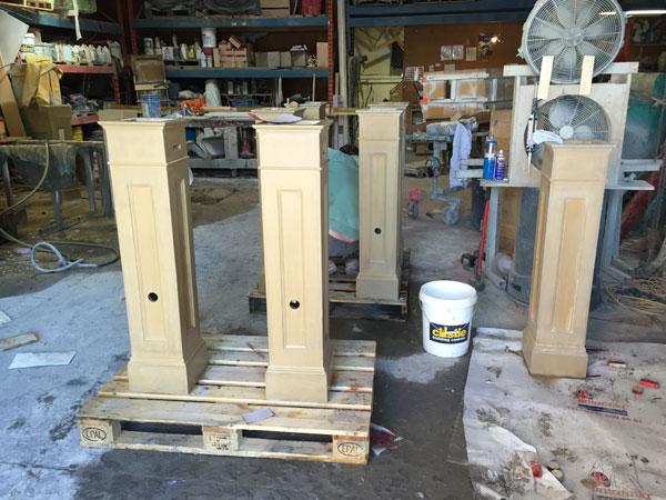 ductal concrete columns