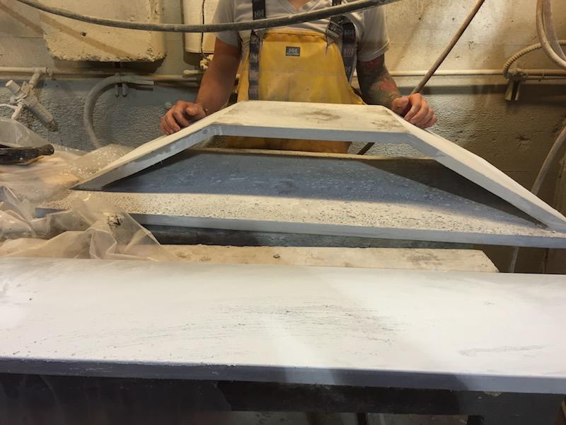 ductal concrete pieces