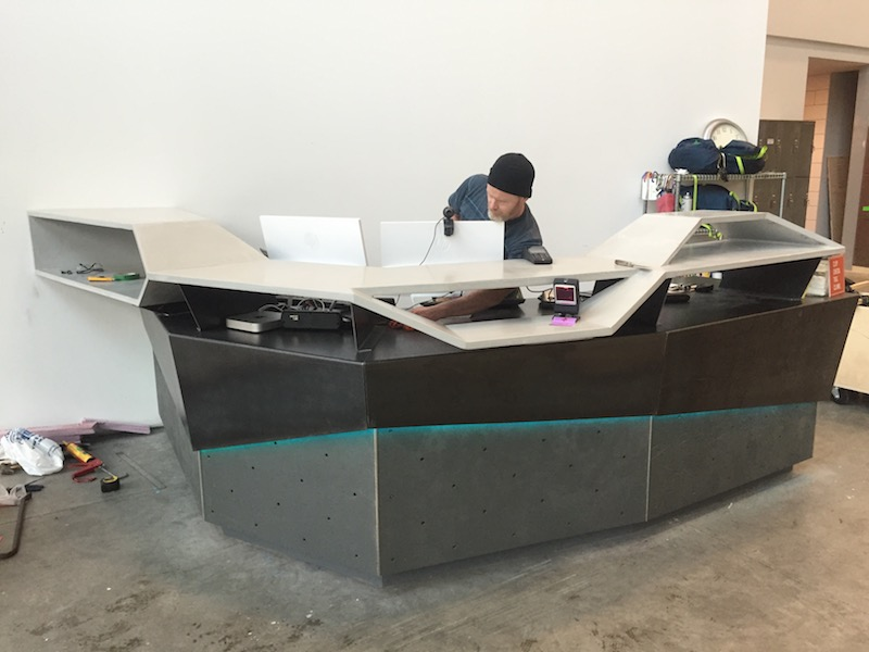 ductal concrete desk